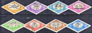 ROMANIA  SCOTT# 1665-72 1964 CTO  OLYMPICS   SEE SCAN
