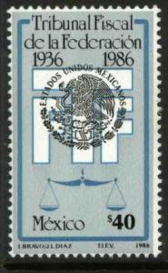 MEXICO 1449, 50th Anniversary of the Federal Tax Court. MINT, NH. F-VF.