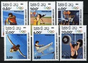 Laos 1983, Olympics Los Angeles 84, Set MNH