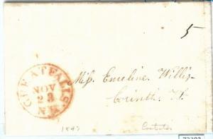 72302 -  UNITED STATES USA - PREPHILATELIC Cover: GREAT FALLS, NY  1847