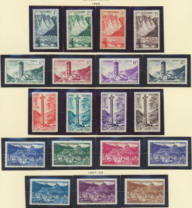 Andorra (French Administration) Stamps Scott #124 To 142, Mint Hinged - Free ...