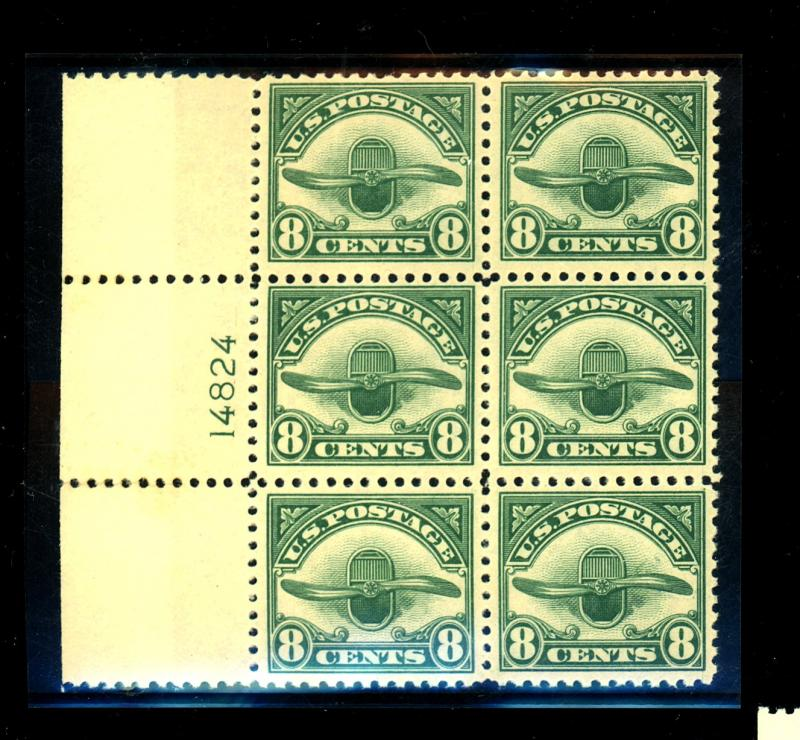 C4 MINT Plate Block F-VF OG NH Cat $330