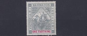 BARBADOS  1897    SG  116   1/4D    DIANMOND  JUBILEE  MH