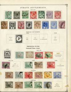 Straits Settlements Early Popular Stamp Collection