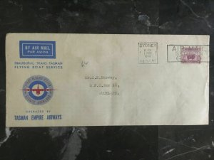 1940 Australia to New Zealand First Flight Cover Trans Tasman Empire Airways FFC