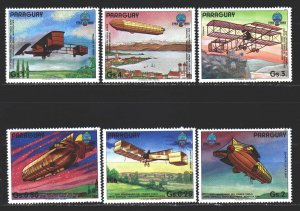 Paraguay. 1984. 3098-3703 from the series. Airplane, aviation. MNH.