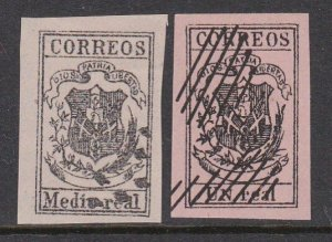 DOMINICAN REPUBLIC  2 old forgeries of a classic stamp......................D801