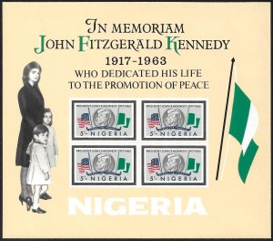 Nigeria 1964 Scott # 161a Mint NH Souvenir Sheet. Ships Free With Another.