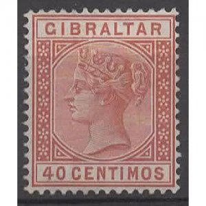 GIBRALTAR 1889 QV 40 Centimos Orange-Brown SG27 HM