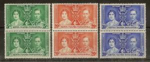 KUT 1937 Coronation Mint Pairs