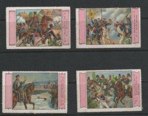 Germany - Lot of 4 of 6 Vignette Stamps - German War of Independence