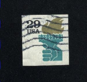 USA #2531A  2 used  1991 PD .11