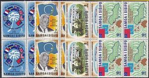 SAMOA 1971 South Pacific Commission set blocks of 4 MNH......................596
