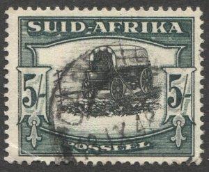 SOUTH AFRICA 1933 Sc 64b  5sh  VF Used Die I, corner crease