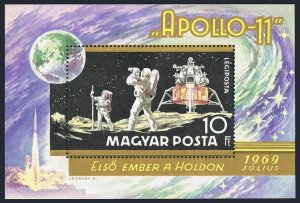 Hungary MNH S/S C295 Space Apollo 11 1969