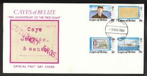 Cayes of Belize 18-21 U/A FDC VF