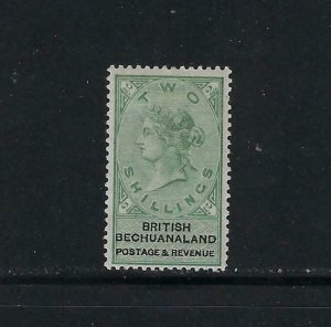 BECHUANALAND PROTECTORATE SCOTT #17 1887 WMK 14- TWO SHILLINGS - MINT  HINGED
