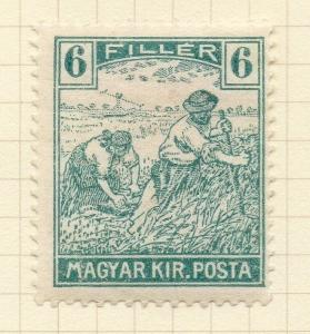 Hungary 1916-18 Issue Fine Mint Hinged 6f. Harvesters Coloured Figures 122439
