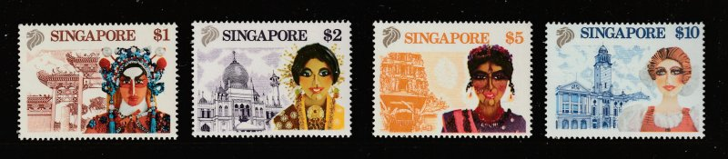 Singapore the 4 MNH high values from the 1990 tourism set