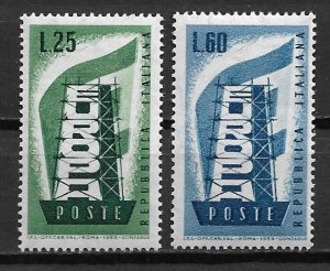 1956 Italy 715-6 Europa C/S of 2 MNH