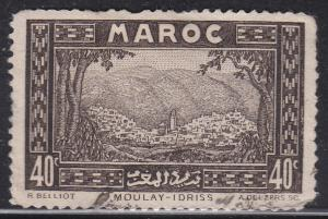 Fr Morocco 133 Hinged 1933 Moulay Idriss of the Zehroun