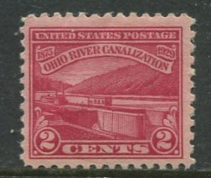 USA- Scott 681 - Ohio River Canalization -1929 - MH -  Single 2c Stamp