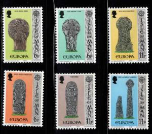 Isle of Man Scott 131-136 MH* Europa set