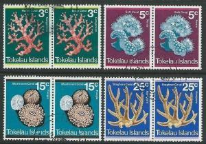 TOKELAU 1973 Corals set in pairs fine used.................................41668
