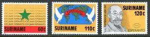 Suriname 759-761 Esperanto  MNH mint      (Inv 001305.)