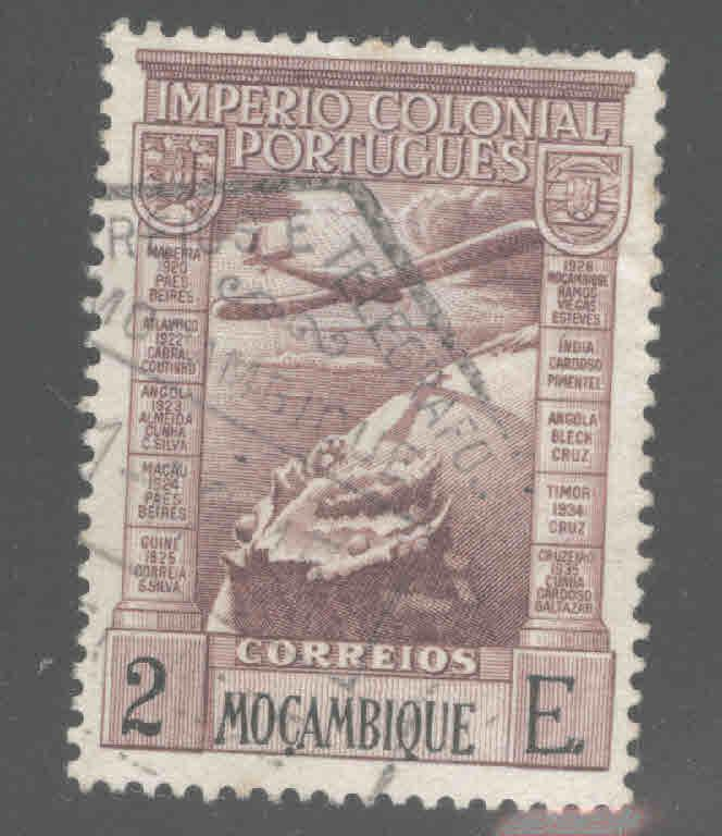 Mozambique Scott C5 Used 1938 airmail stamp