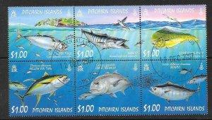 PITCAIRN ISLANDS SG749a 2007 OCEAN FISH FINE USED