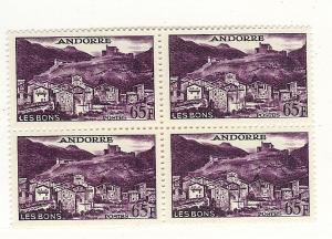 Andorra (French), 140, Scenic Design, Block (4), MNH