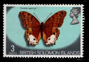 British Solomon Islands Scott 234 MH* butterfly stamp