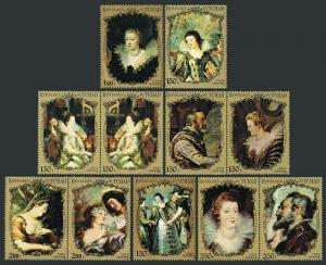Chad 232Lb/233Jab,233P-233U,MNH. Peter Paul Rubens.Portraits of French Royalty.