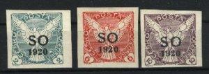 Eastern Silesia P1-P3   Mint VF 1920 PD