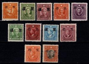 China 1945 Japan Occ. of Mengkiang, Optd. Mengkiang, Part Set [Unused]