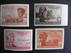 Croatia Sc B33-6 MH imperf proofs? that are printed in different colors