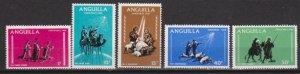 1968 Anguilla Scott 44-48 Christmas MNH