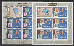Aitutaki 102-03 MNH m/s UPU SCV8.25