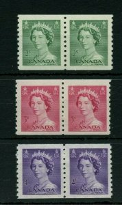 Karsh coil pairs VF MNH Cat $17 Canada Stamps