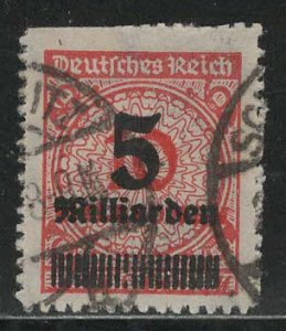 Germany Reich Scott # 319, used, exp h/s