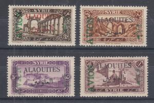 Alaouites Sc C5-C8 MLH. 1925 Air Post overprints on stamps of Syria, cplt set