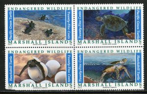RK8331 MARSHALL ISLANDS 380a BLOCK4 MNH SCV $3.25 BIN $2.00 MARINE LIFE