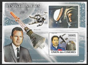 Comoro Islands MNH S/S  Space Astronauts