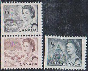 Canada - 3 Stamps from Booklet Pane #544ci VF-NH