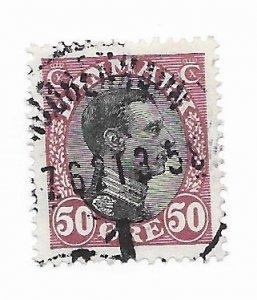 Denmark #121 Used - Stamp - CAT VALUE $2.00