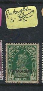 INDIA   PATIALA  (PP2807B)   KGVI  9P  SG 82  MOG