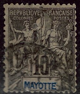 French Mayotte Sc #5 Used Fine...Colonies are in demand!
