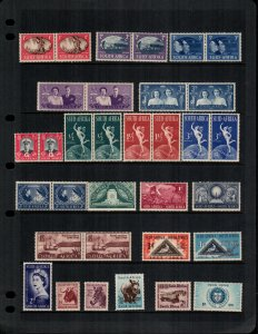 South Africa  21 different MNH
