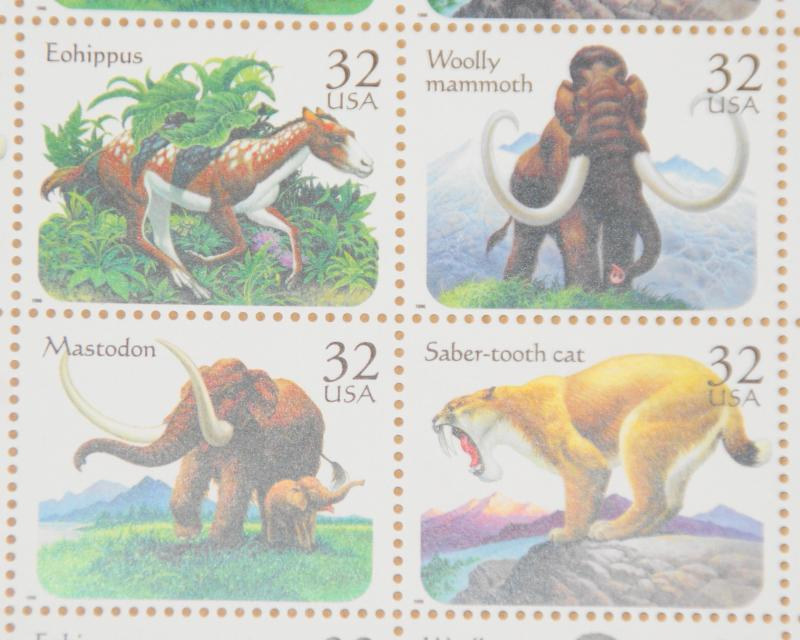 1996 sheet Prehistoric Animals Sc# 3077-80